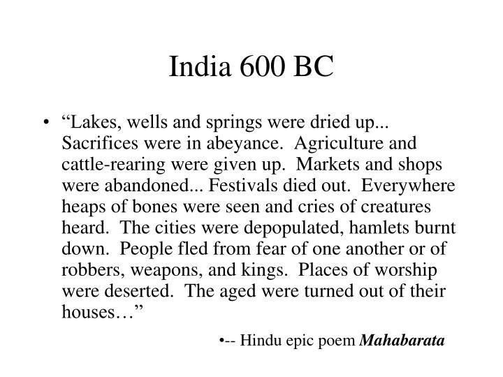India 600 BC