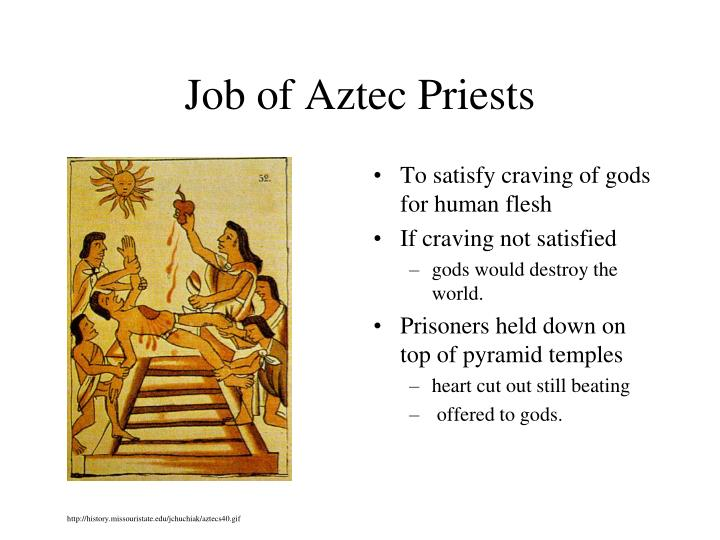 Job of Aztec Priests