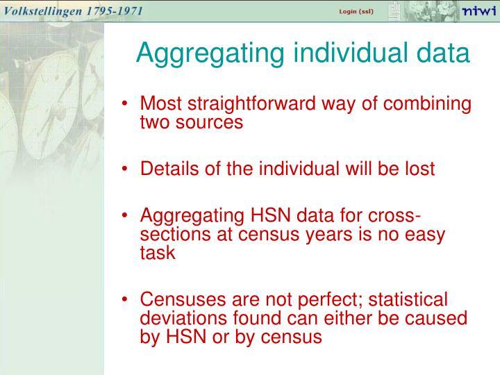 Aggregating individual data