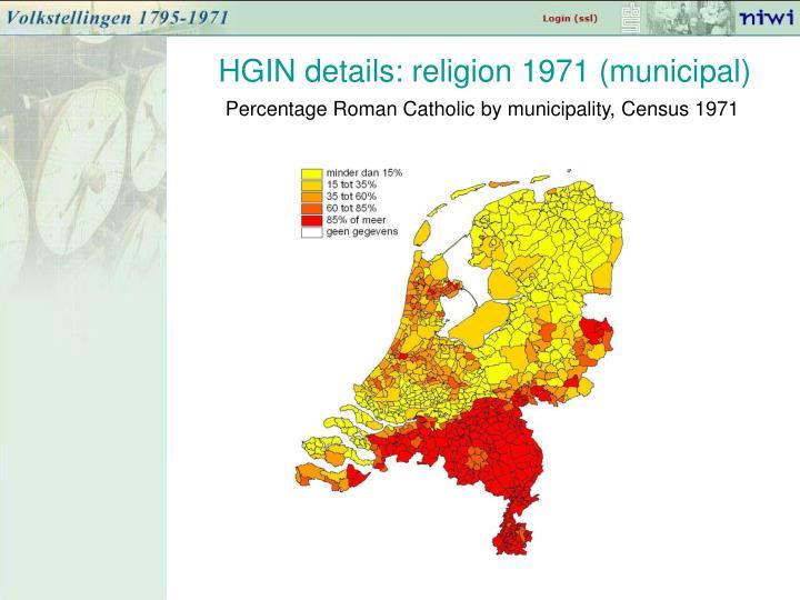 HGIN details: religion 1971 (municipal)