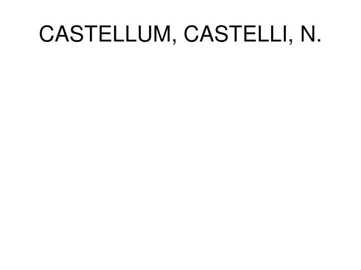 CASTELLUM, CASTELLI, N.