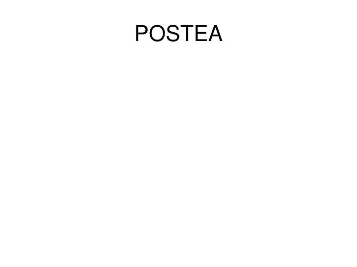 POSTEA