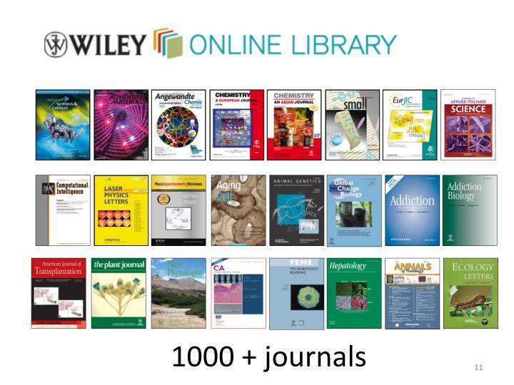 1000 + journals
