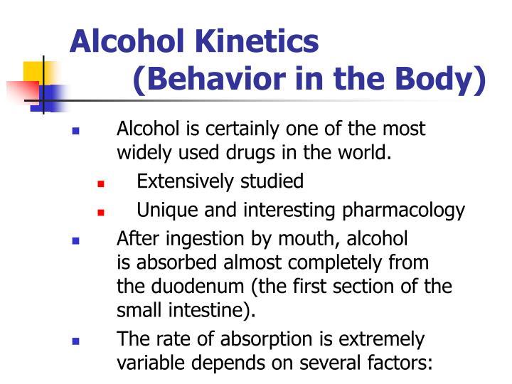 Alcohol Kinetics