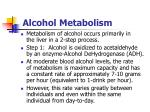 alcohol metabolism