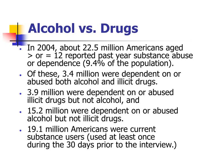 Alcohol vs. Drugs