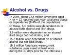 alcohol vs drugs
