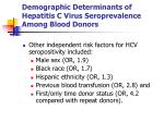 demographic determinants of hepatitis c virus seroprevalence among blood donors3
