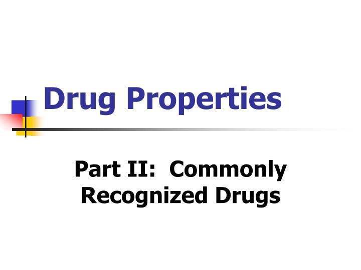 Drug Properties