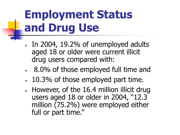 Employment Status                     and Drug Use