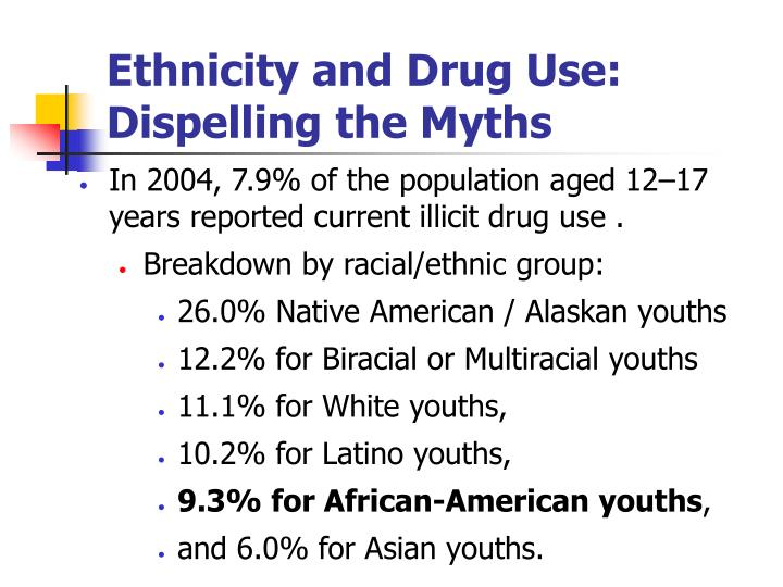 Ethnicity and Drug Use: Dispelling the Myths