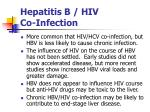 hepatitis b hiv co infection