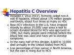 hepatitis c overview