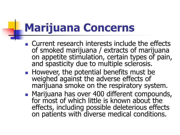 Marijuana Concerns