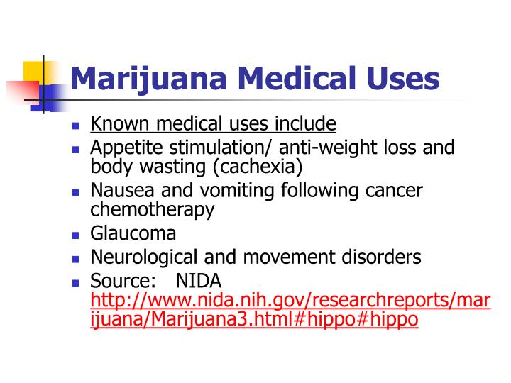 Marijuana Medical Uses