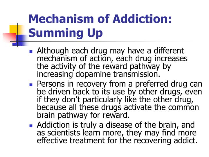 Mechanism of Addiction: Summing Up