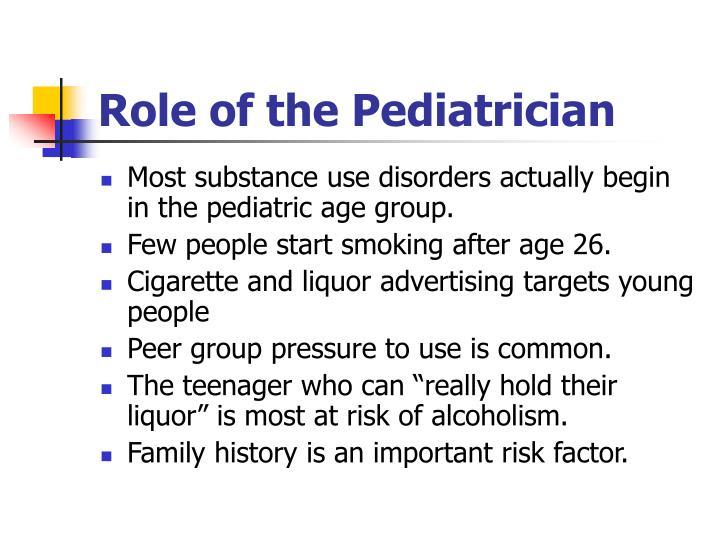 Role of the Pediatrician