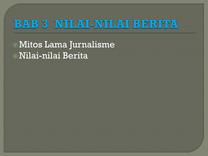BAB 3  NILAI-NILAI BERITA