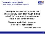 community impact model what is it we must do to be successful3