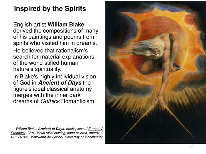 Inspired by the Spirits
