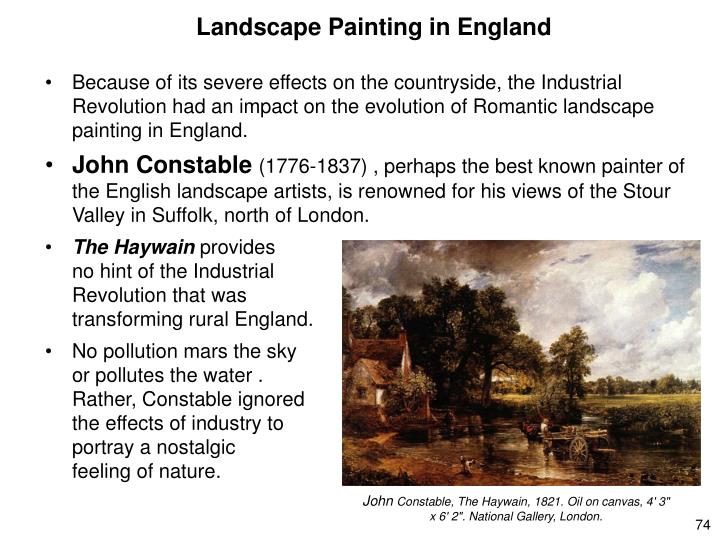 Landscape Painting in England