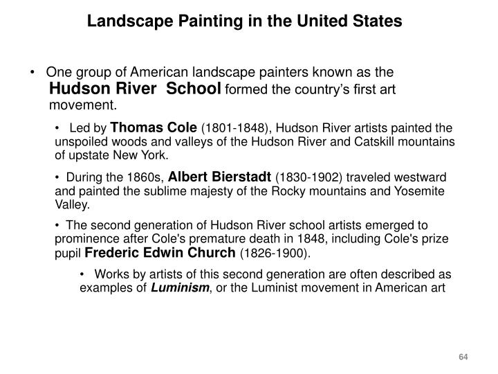 Landscape Painting in the United States