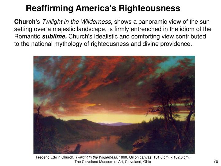 Reaffirming America's Righteousness