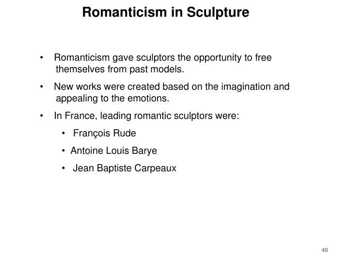 Romanticism in Sculpture