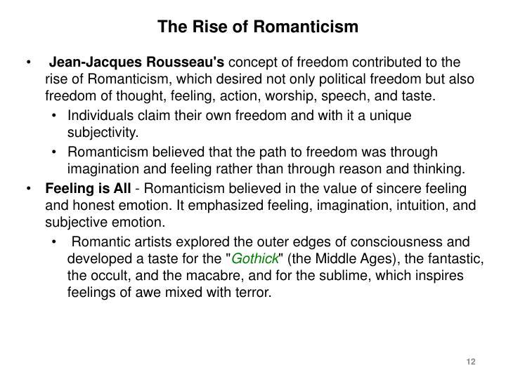 The Rise of Romanticism