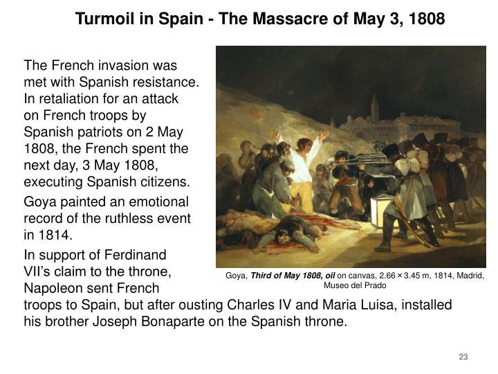 Turmoil in Spain - The Massacre of May 3, 1808