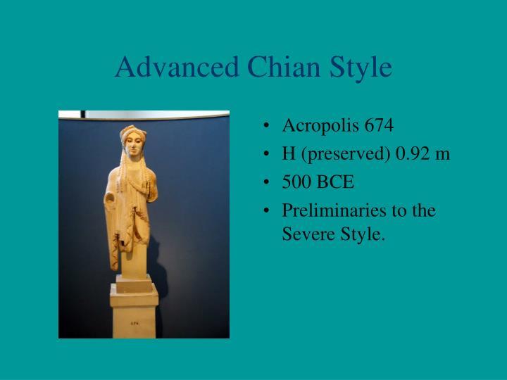 Advanced Chian Style