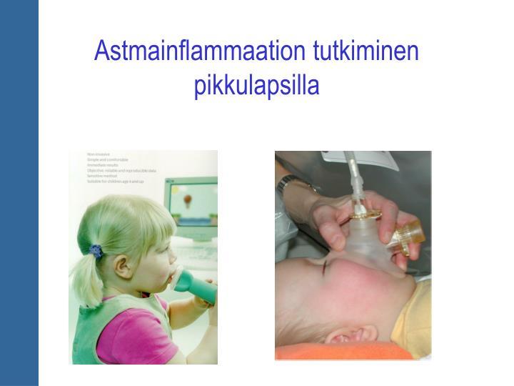 Astmainflammaation tutkiminen