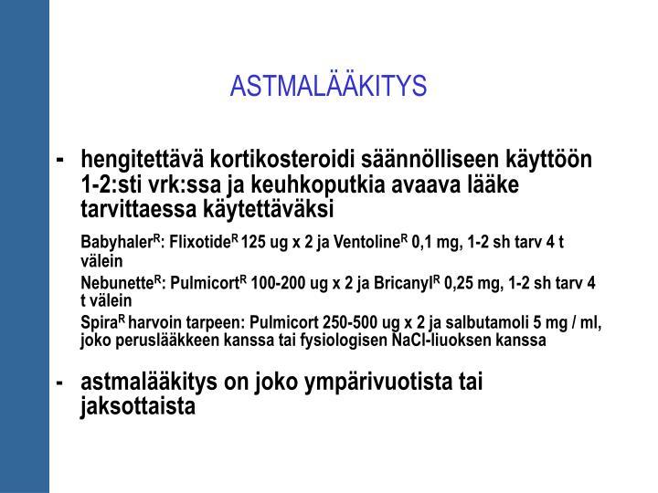 ASTMALÄÄKITYS