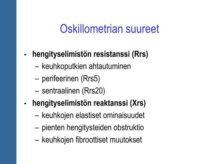 Oskillometrian suureet