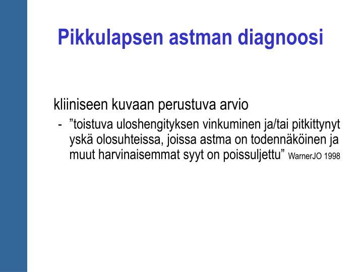 Pikkulapsen astman diagnoosi