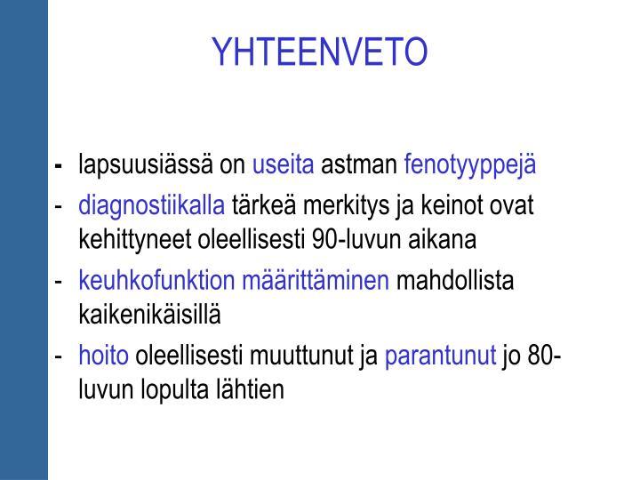 YHTEENVETO