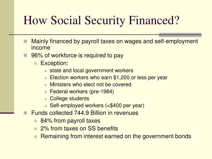 How Social Security Financed?
