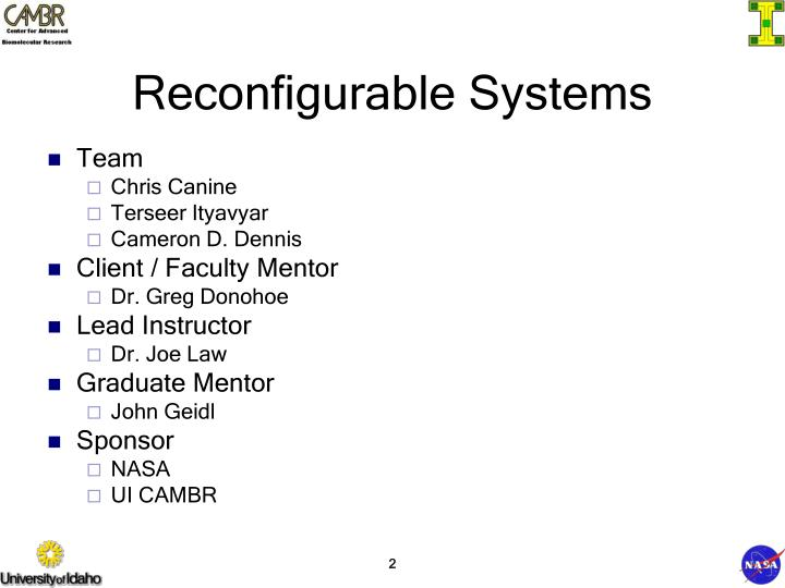 Reconfigurable Systems