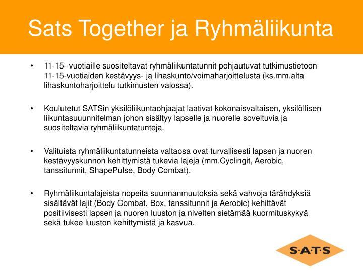 Sats Together ja Ryhmäliikunta