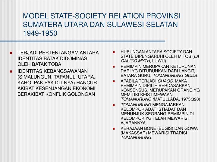 HUBUNGAN ANTARA SOCIETY DAN STATE DIPENGARUHI OLEH MITOS (
