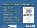 dissemination of unec courses