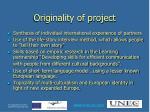 originality of project