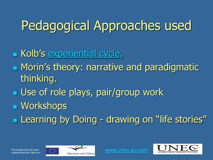 Pedagogical Approaches used