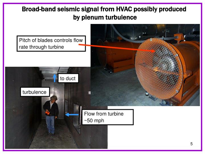 Broad-band seismic signal from HVAC possibly produced