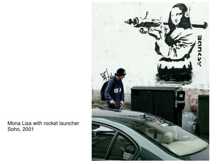 Mona Lisa with rocket launcher