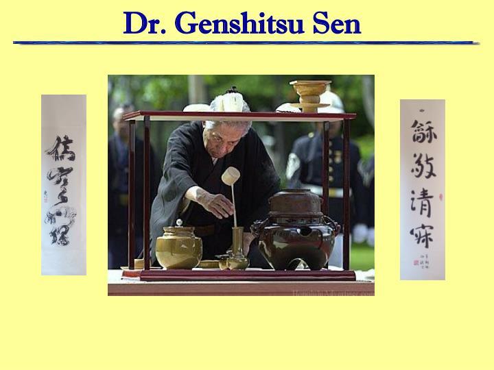 Dr. Genshitsu Sen