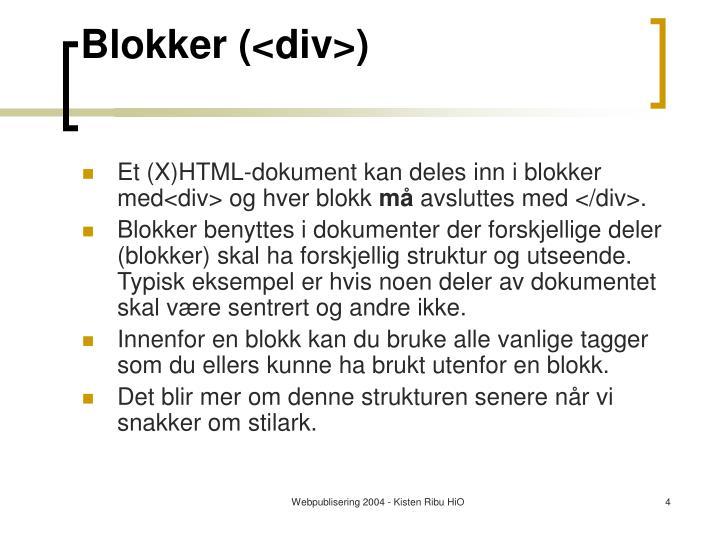 Blokker (<div>)