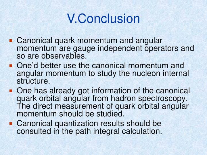 V.Conclusion