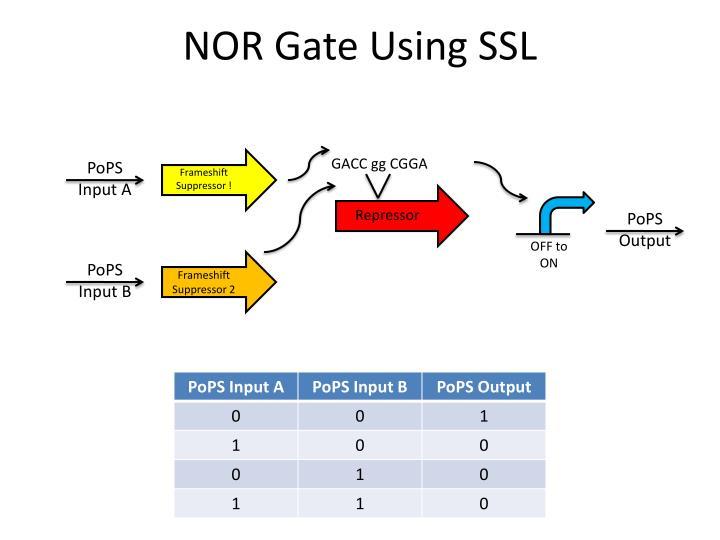 NOR Gate Using SSL