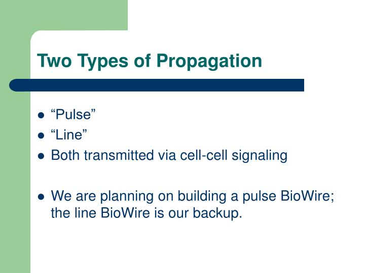 Two Types of Propagation